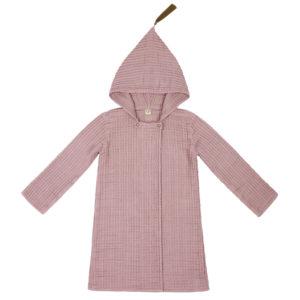 joy bathrobe dusty pink