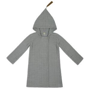 joy bathrobe silver grey