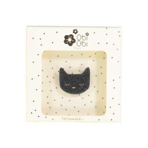 broche chat noir obi obi