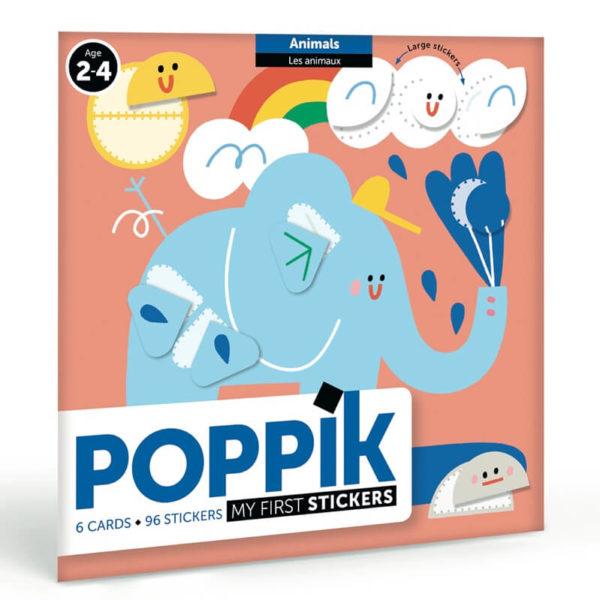 mes premiers stickers les animaux poppik
