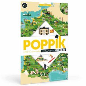 poster stickers la france poppik